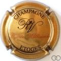 Champagne capsule 2.b Millésime, or foncé