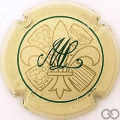 Champagne capsule 1 Crème, vert et or