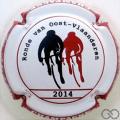 Champagne capsule 015.a 2014, contour rouge