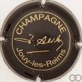 Champagne capsule 07.e Noir et or, petites lettres