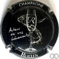Champagne capsule 4 Noir, or et blanc