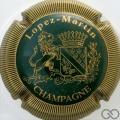 Champagne capsule 3 Vert foncé et or