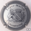 Champagne capsule 12.b Métal et noir, striée