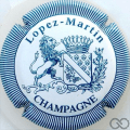 Champagne capsule 11.a Blanc et bleu pâle, striée