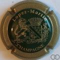 Champagne capsule 12.a Vert et or, striée