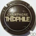 Champagne capsule 110.a Marron, écriture crème