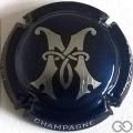 Champagne capsule 4.b Bleu foncé et argent