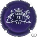 Champagne capsule 2.e Violet métallisé et blanc
