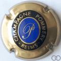 Champagne capsule A3 Cuivre, intérieur bleu, cercle ovale