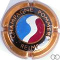 Champagne capsule 55 Quart, bleu, blanc et rouge