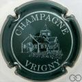 Champagne capsule 1 Vert foncé et blanc
