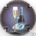 Champagne capsule 1 Bleu terne