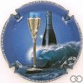 Champagne capsule 2 Bleu vif