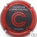 Champagne capsule 8.b Noir mat, contour rouge