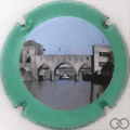 Champagne capsule 14.b Pont des Trous, contour vert
