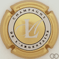 Champagne capsule 11.d Or, cercle blanc