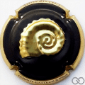 Champagne capsule A1 Noir et or, estampée