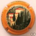 Champagne capsule A1.b Contour orange