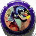 Champagne capsule  Contour violet, relief