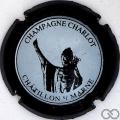 Champagne capsule 8.a Contour noir, centre blanc cassé