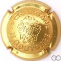 Champagne capsule 13 Estampée or
