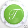 Champagne capsule 15.d T, vert contour blanc