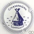Champagne capsule 1 Bleu, striée
