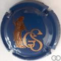 Champagne capsule 19.c Bleu et or