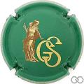 Champagne capsule 19.d Vert et or