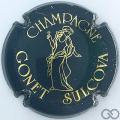Champagne capsule 4 Vert et or brillant