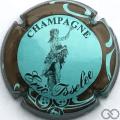 Champagne capsule 6 Bleu ciel, contour marron
