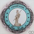 Champagne capsule 13.e Cercle bleu pâle