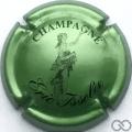 Champagne capsule 4 Vert pâle métallisé et noir
