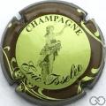 Champagne capsule 7 Vert pâle, contour marron
