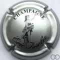 Champagne capsule 3 Argent et noir