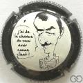 Champagne capsule 1.h Contour noir et blanc
