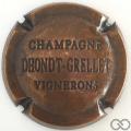 Champagne capsule 8 Estampée vieux bronze