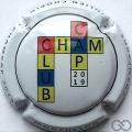 Champagne capsule 66.a Contour blanc