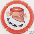 Champagne capsule 78.a Chamcap 2021, contour orange