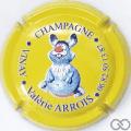 Champagne capsule 2.d Jéroboam, fond jaune