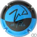 Champagne capsule 6 Bleu et noir