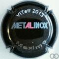 Champagne capsule H7810 Metalinox, personnalisée