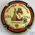 Champagne capsule 36.l PALM et strass, 2014 contour or
