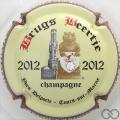 Champagne capsule 36.e 2012, avec strass