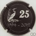 Champagne capsule A6 25 jaar Feestsalons De Zilverreiger