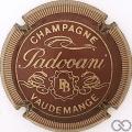 Champagne capsule 5 Bordeaux et or, striée