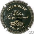 Champagne capsule 12 Noir et or, striée