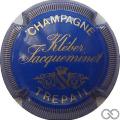 Champagne capsule 11 Bleu et or, striée