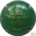Champagne capsule 3 Vert et or