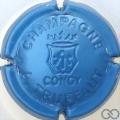 Champagne capsule 5.a Estampée bleu métallisé